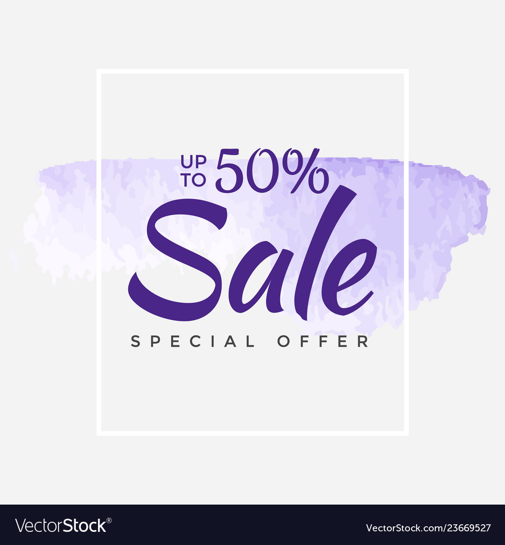 Sale final up to 50 off sign over art brush