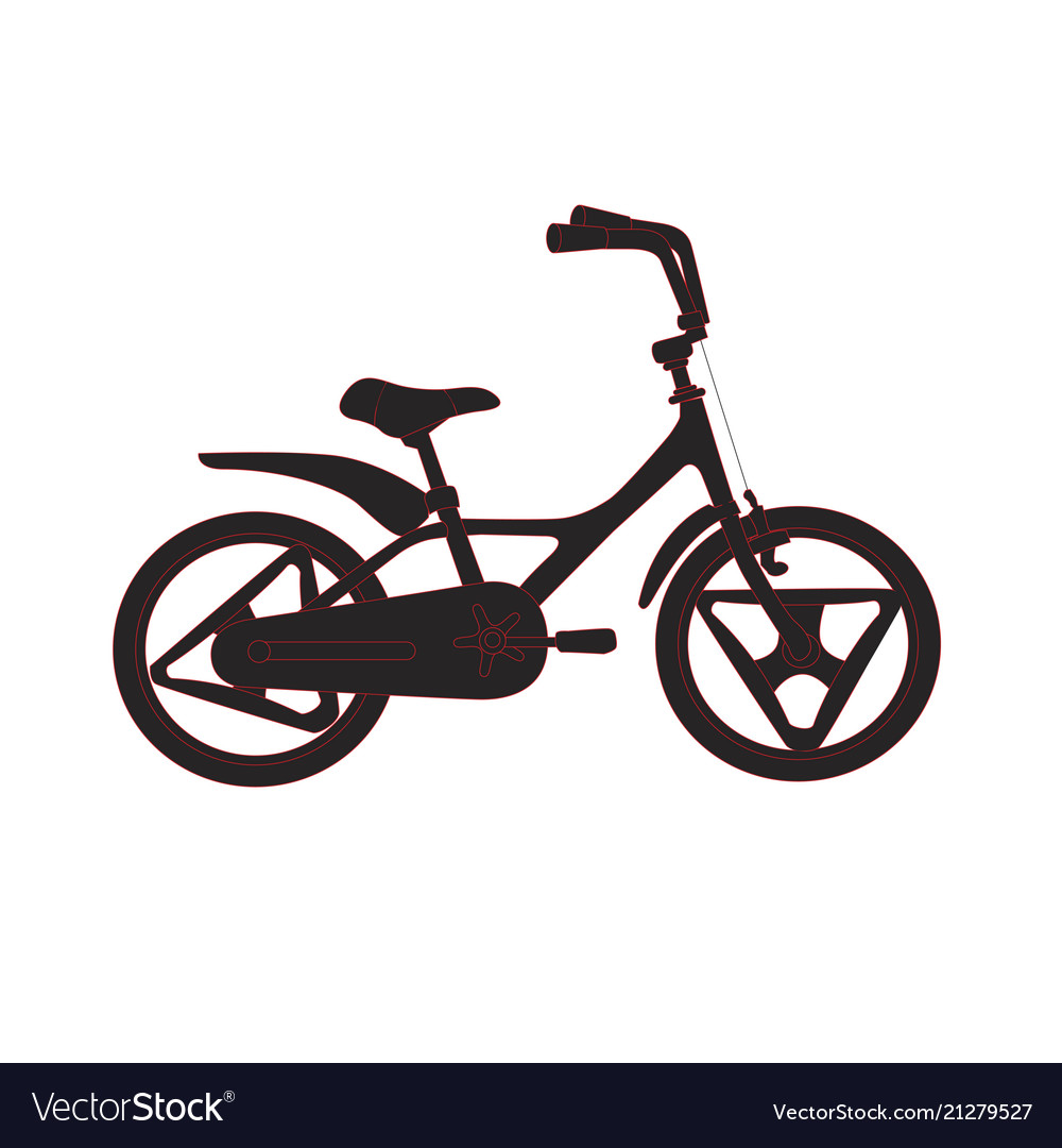 Silhouette of bicycle for kids eco city