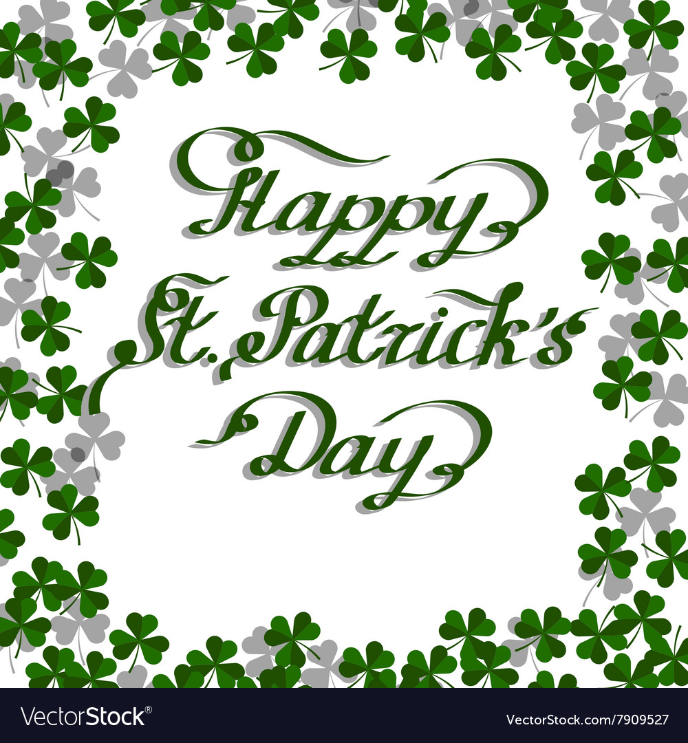 St Patricks Day greeting card