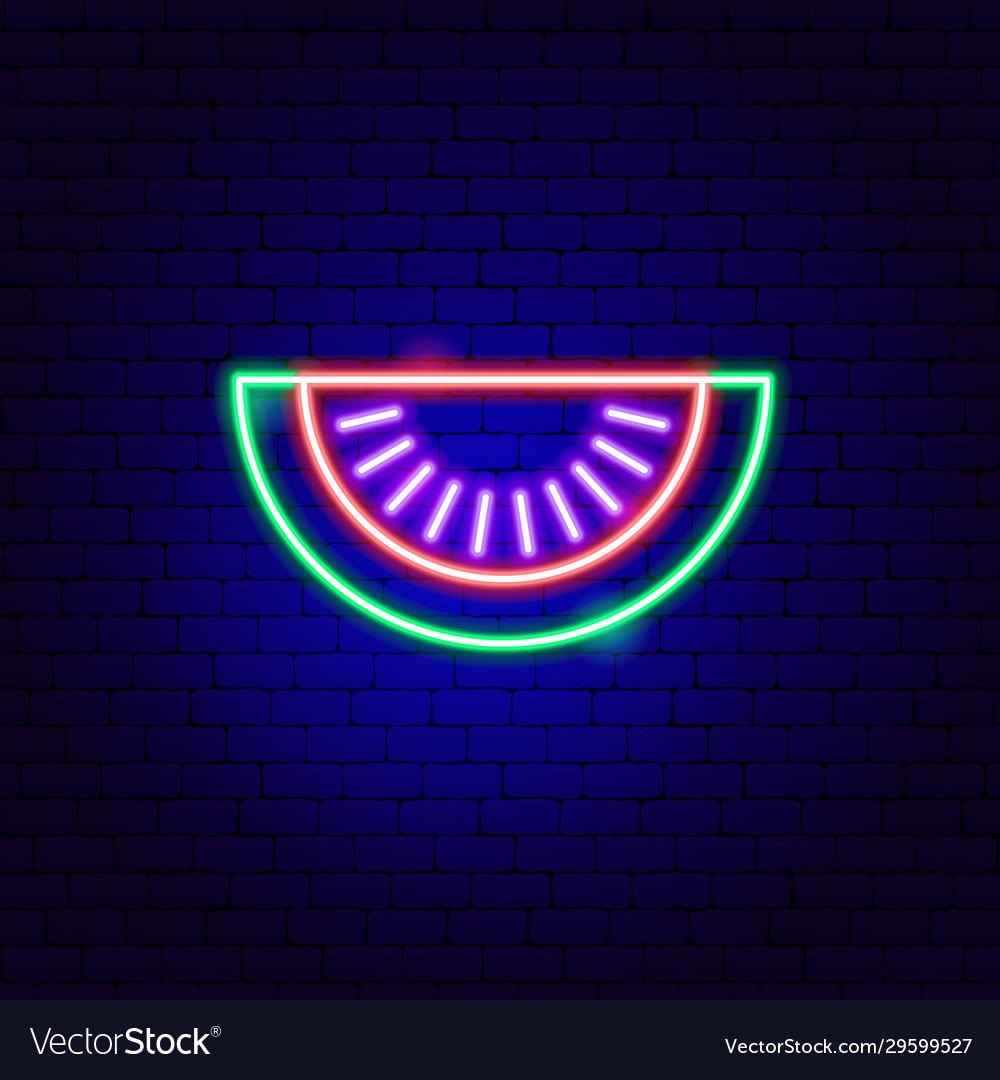 Watermelon slice neon sign
