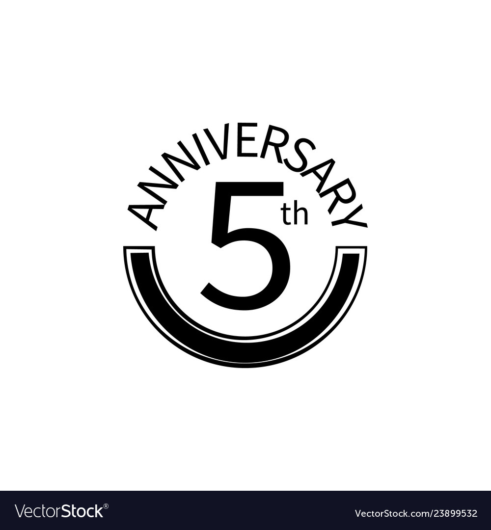 5 anniversary sign element of anniversary sign