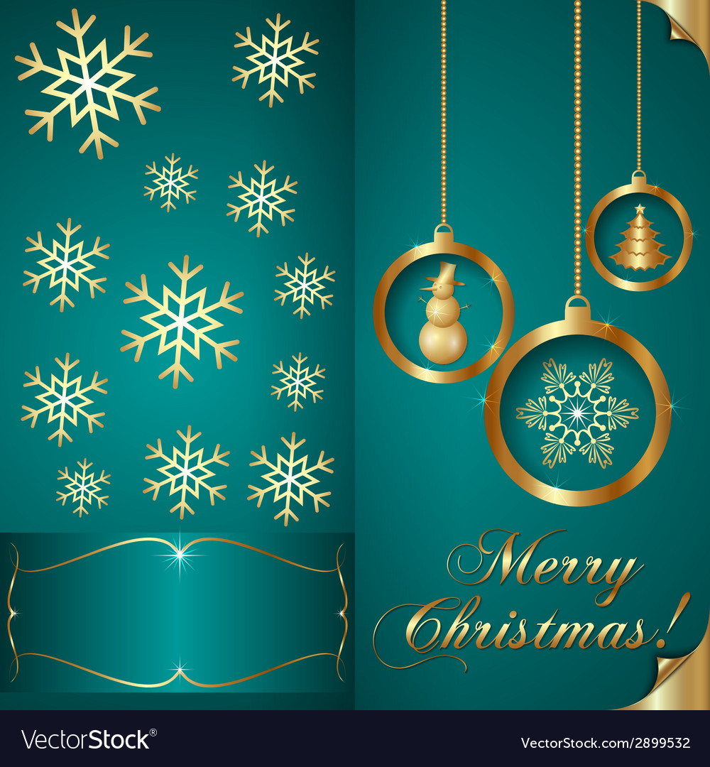 Abstart cyan blue christmas invitation card vector image stopboris Choice Image