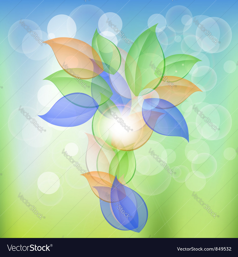 Abstract Leaves Concept