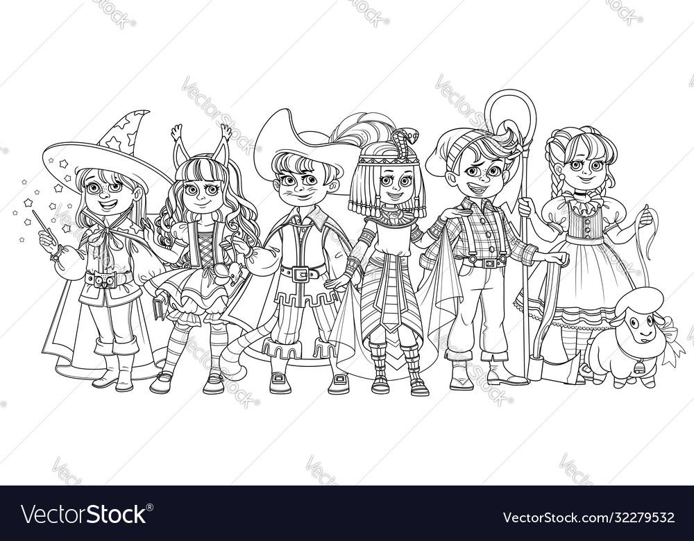 Children in carnival costumes