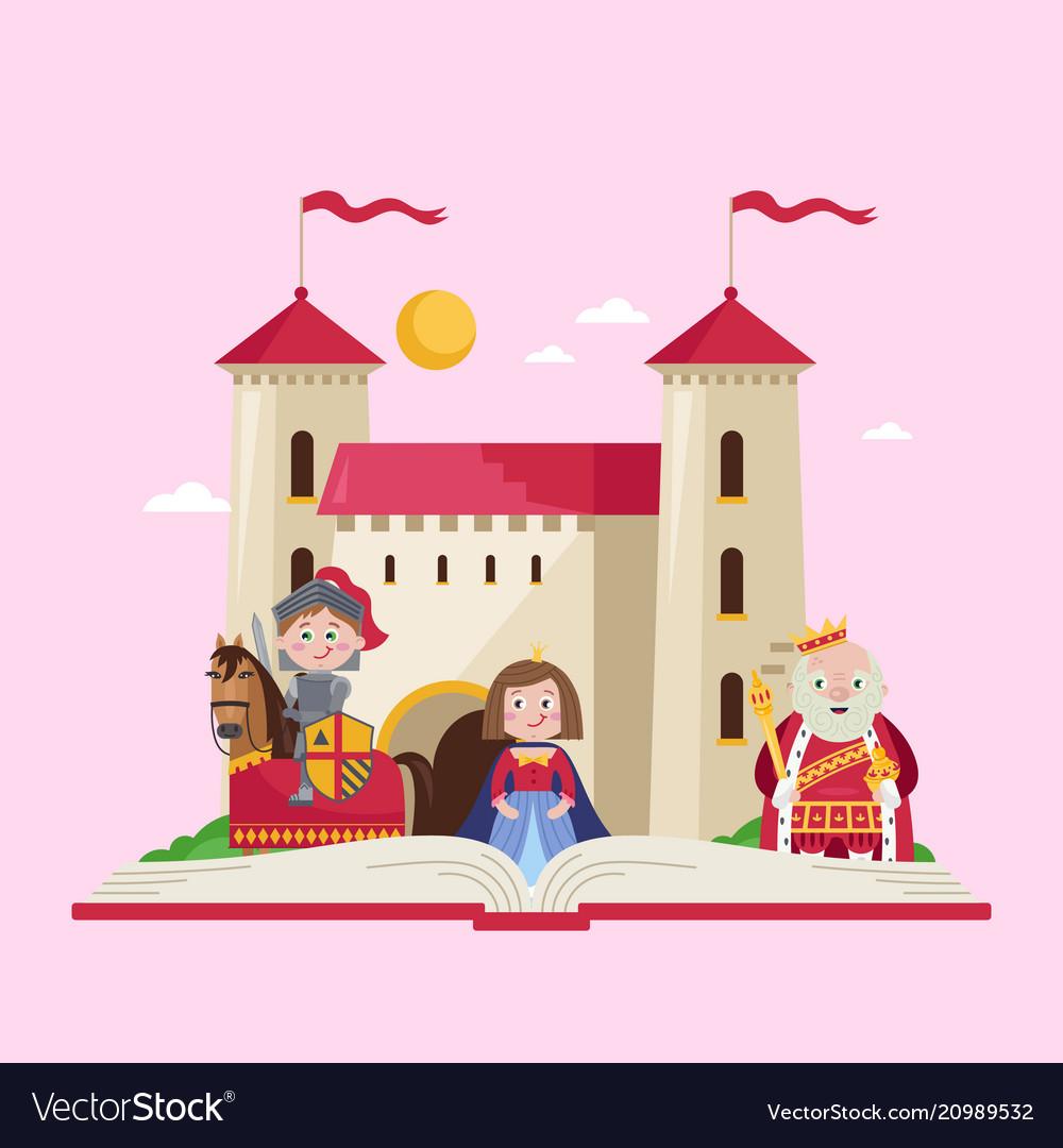 Fairytale poster in cartoon style