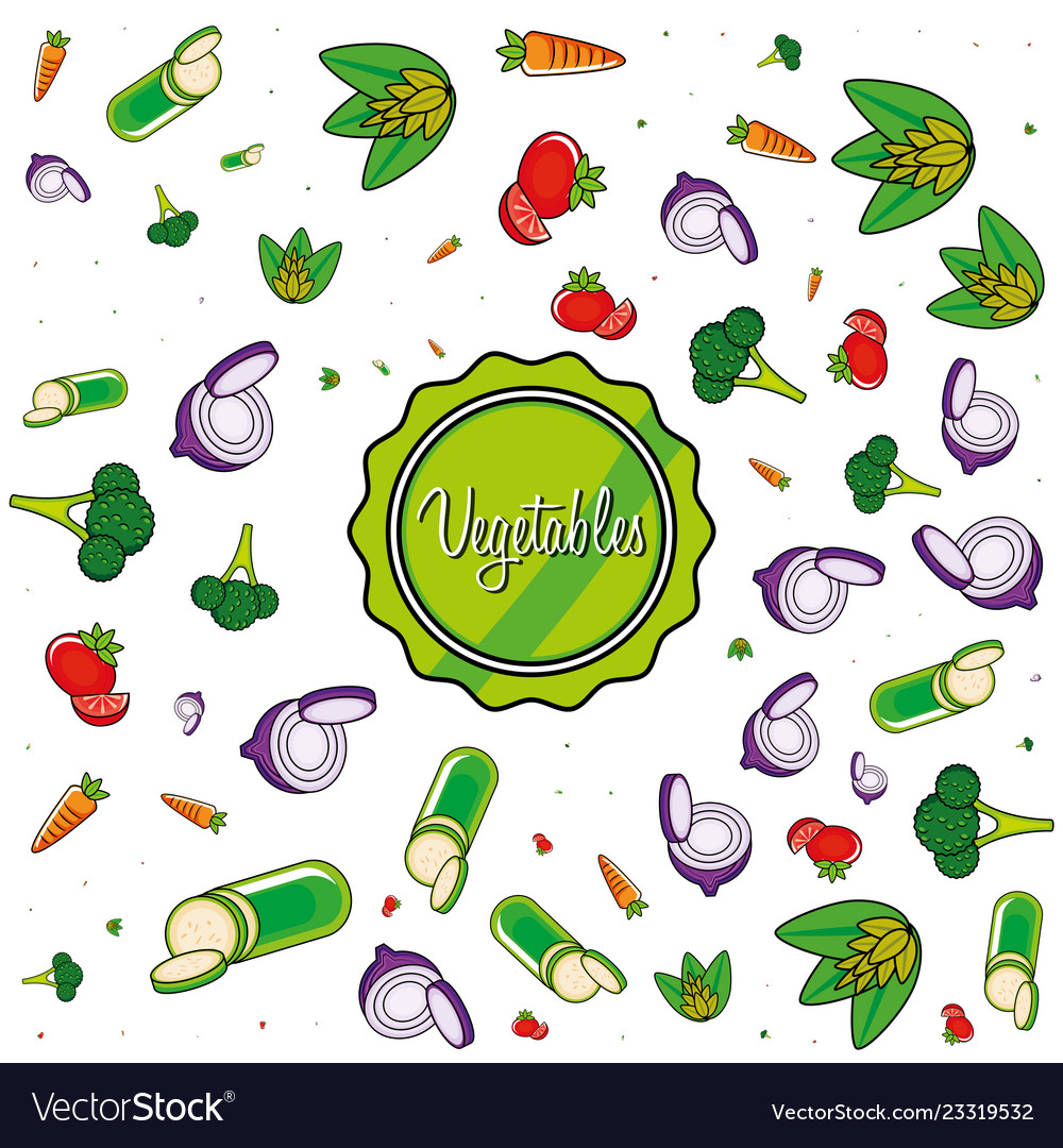 Pattern of delicious vegetables