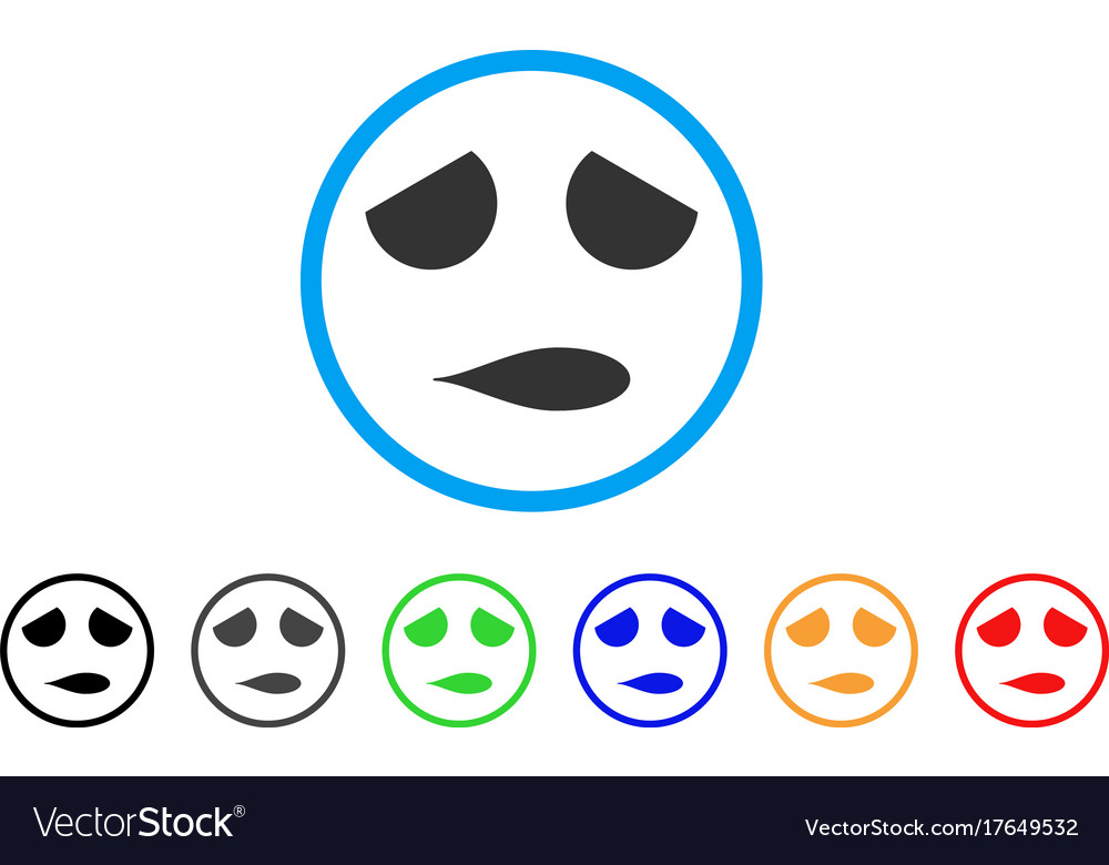 Sad emoticon smile rounded icon