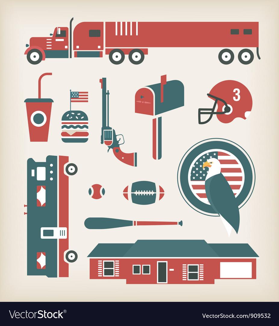 USA vector image