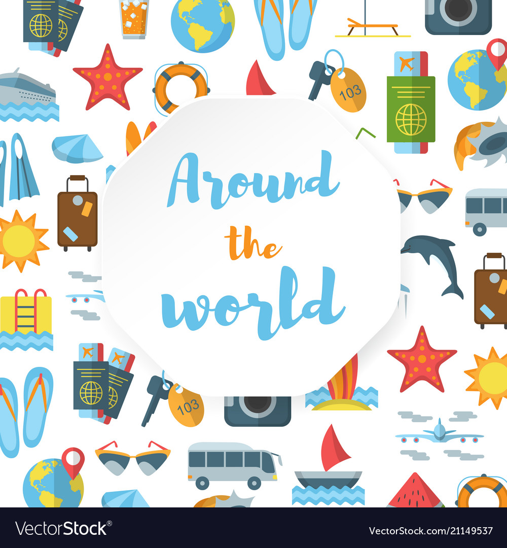 Around the world flat pattern