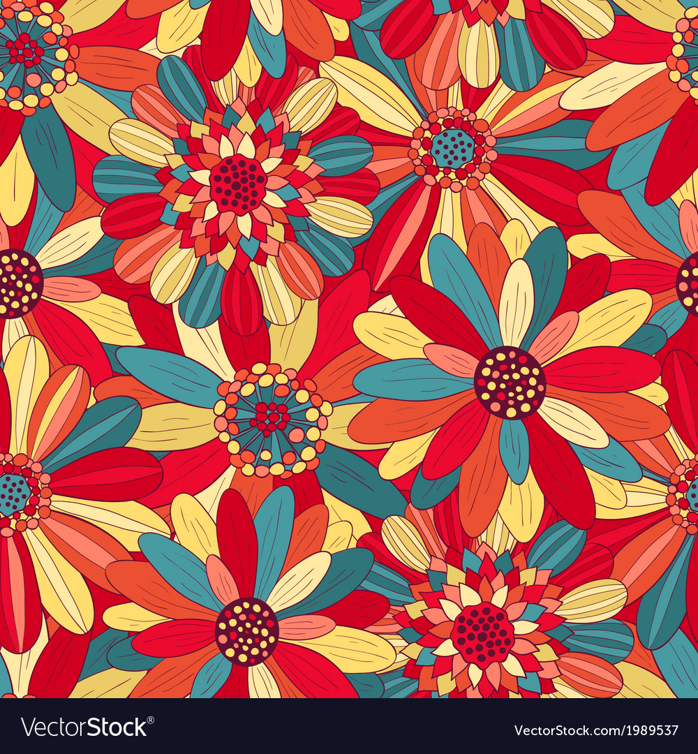 Beautiful Bright Flowers 3 Royalty Free Vector Image