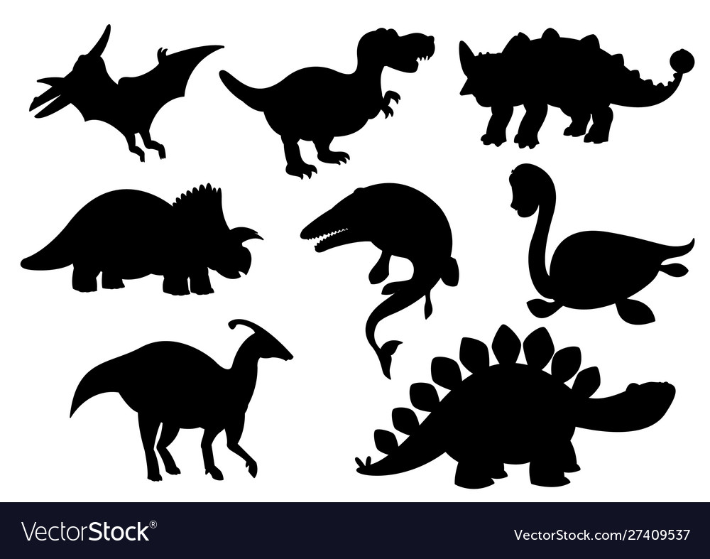 Dinosaurs and jurassic dino monsters icons