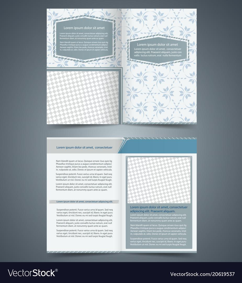Empty Bifold Brochure Template Royalty Free Vector Image - Bifold brochure template