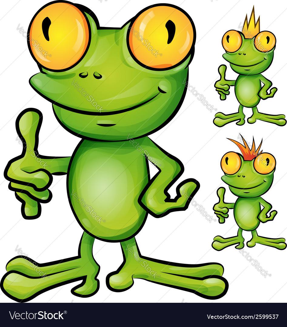Frog cartoon set