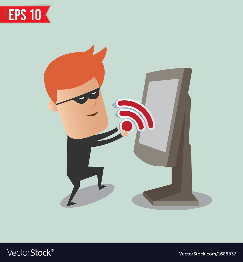 Hacker sniff wireless network for computer