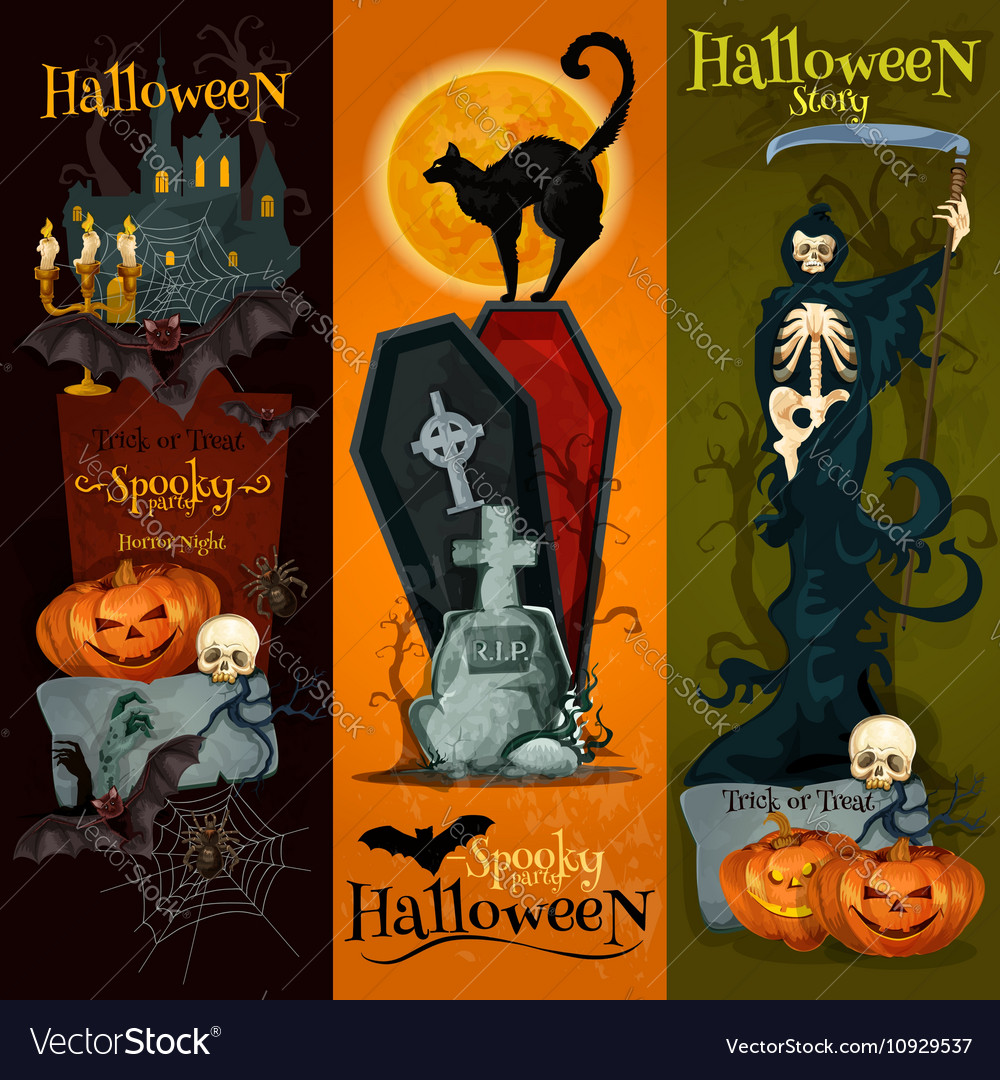 Halloween spooky party decoration banners