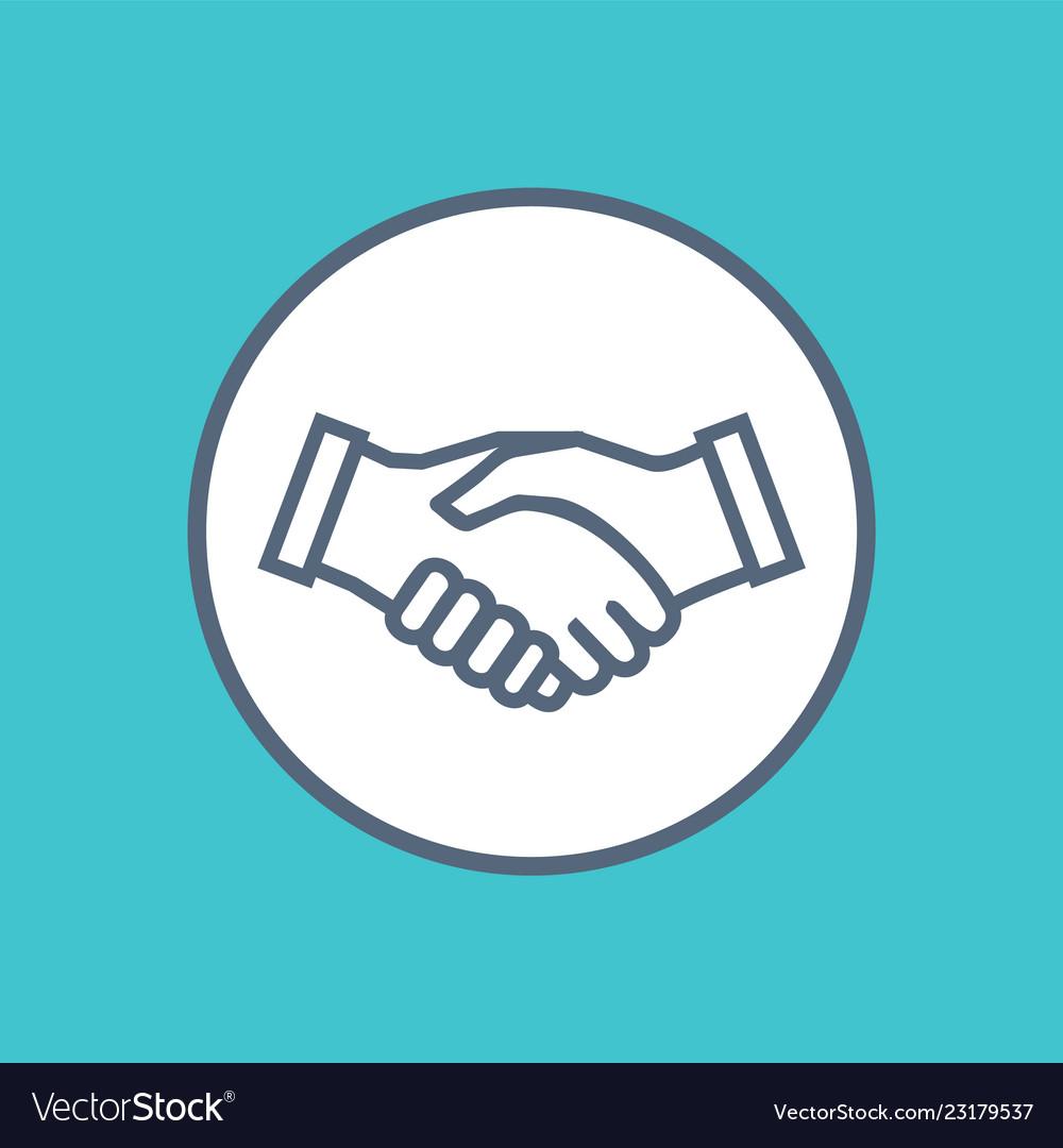 Handshake icon symbol collaboration partnership