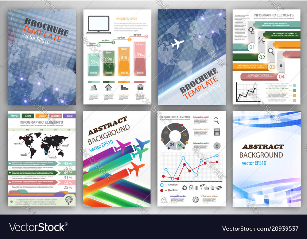 Infographic templates and abstract creative