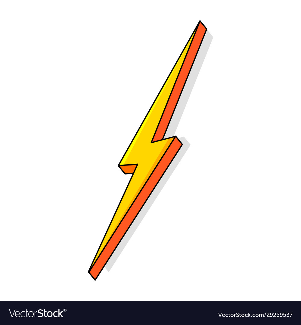 Lightning bolt thunderbolt strike Royalty Free Vector Image