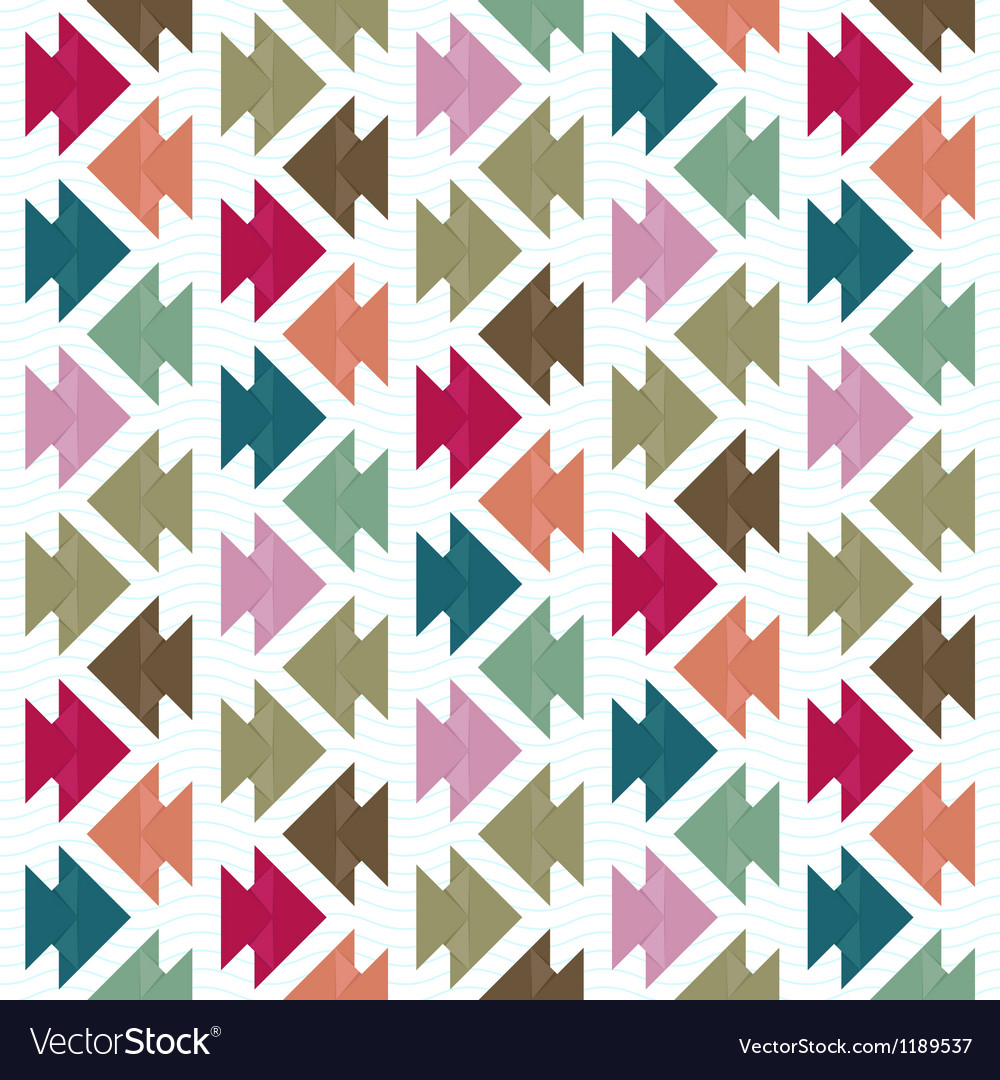 Origami fish pattern vector image