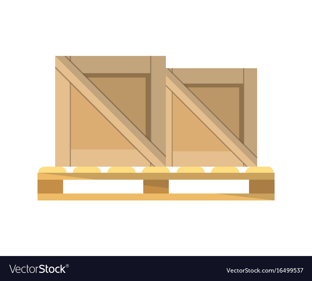 packing boxes on pallet icon royalty free vector image