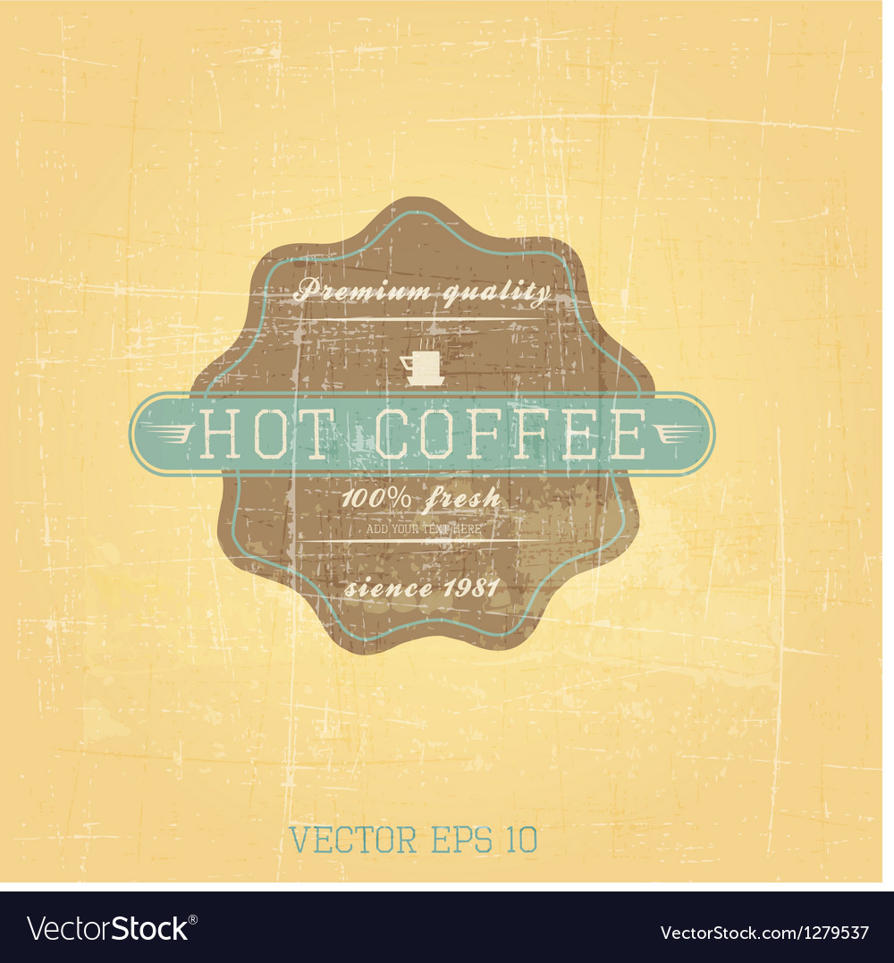 Retro cofee label