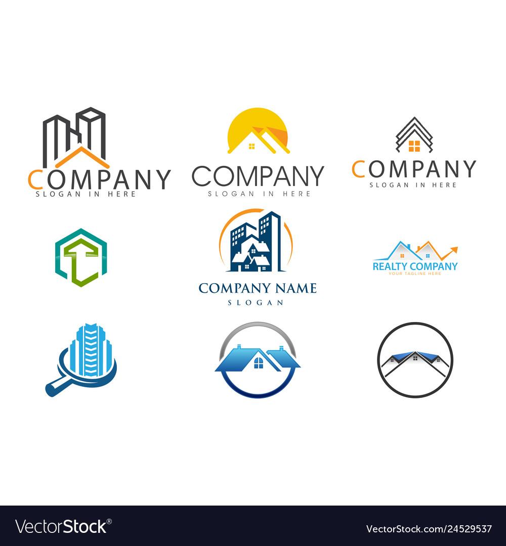 Set of real estate logo