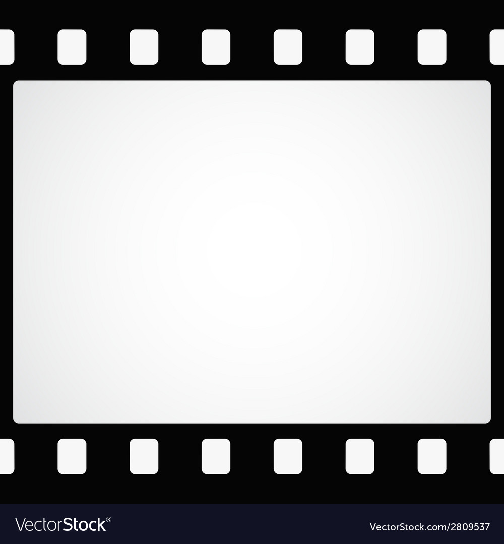 simple black film strip background vector image
