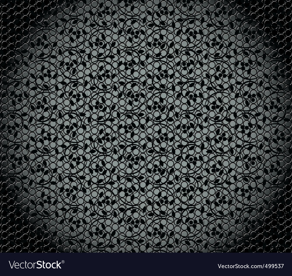 Texture with floral pattern vector image