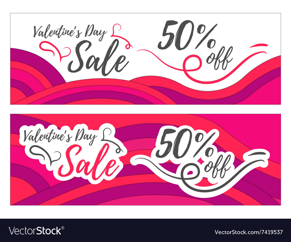 Valentines day sale promo store