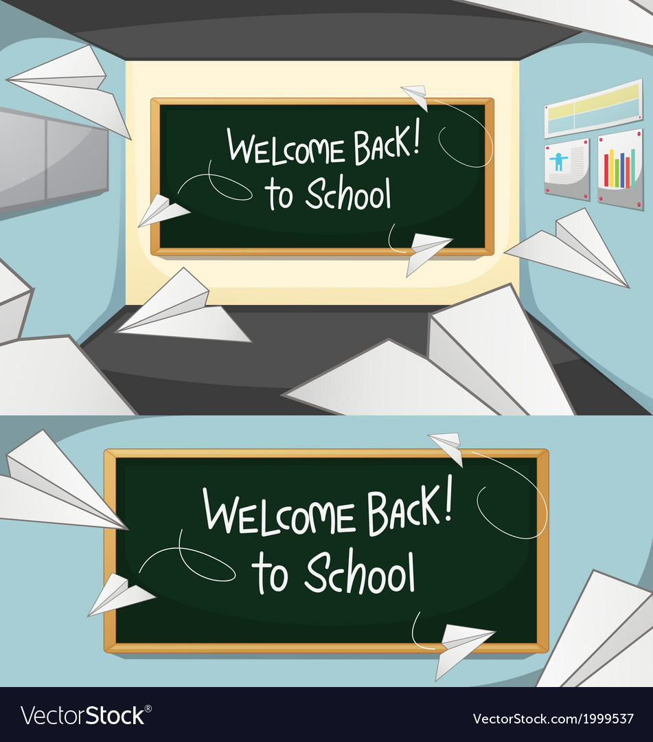 Welcome-Back-to-School vector image