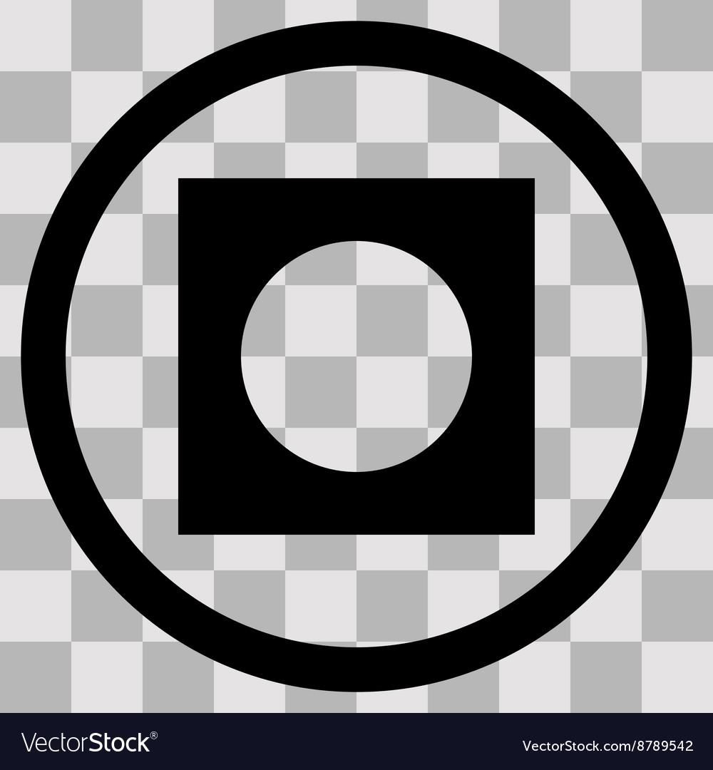 Flat black singl icon record
