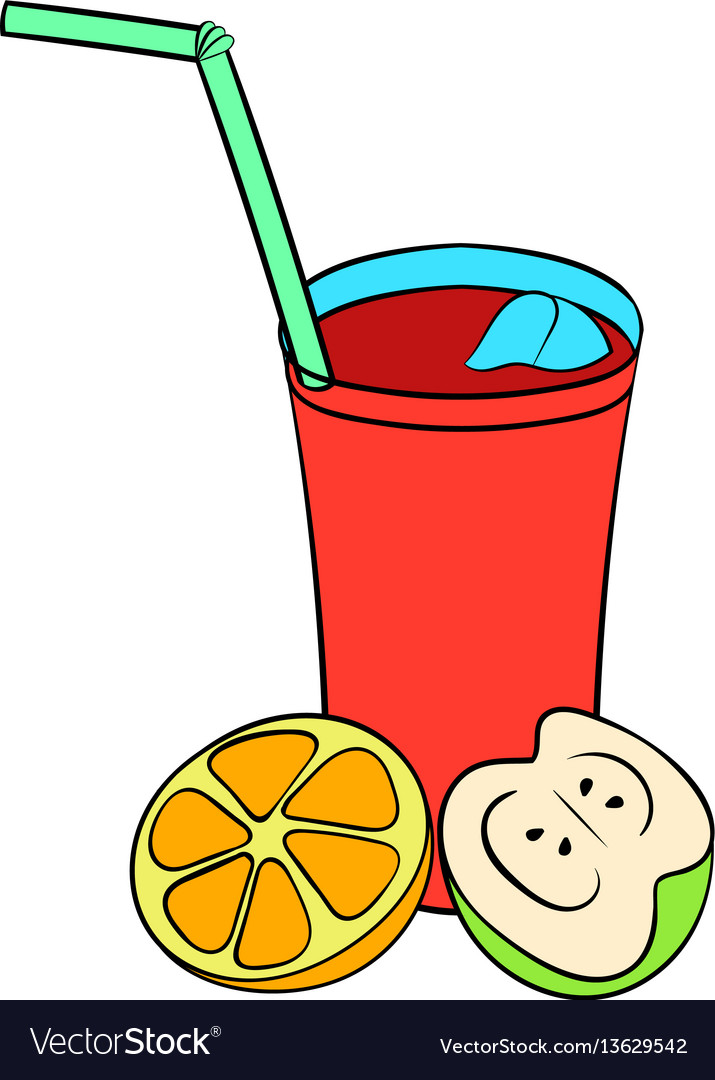 Glass of sangria icon cartoon vector image