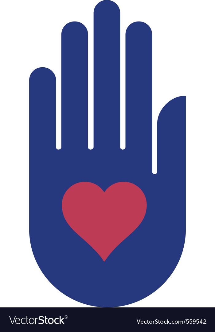 Human hand holding heart
