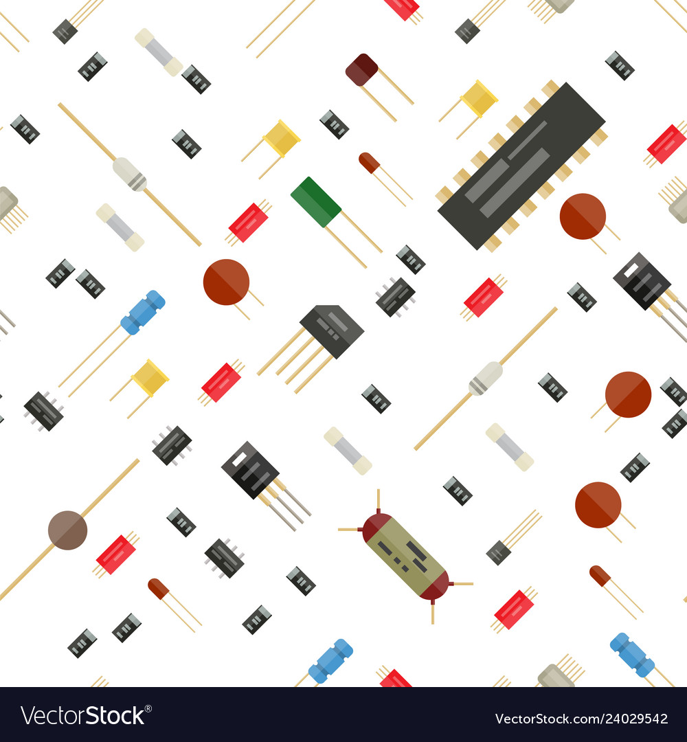 Seamless electronic components pattern
