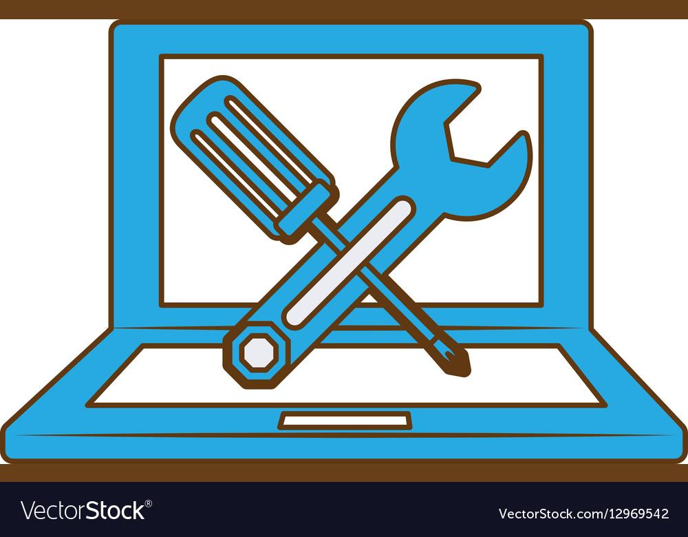 Technical service computers icon