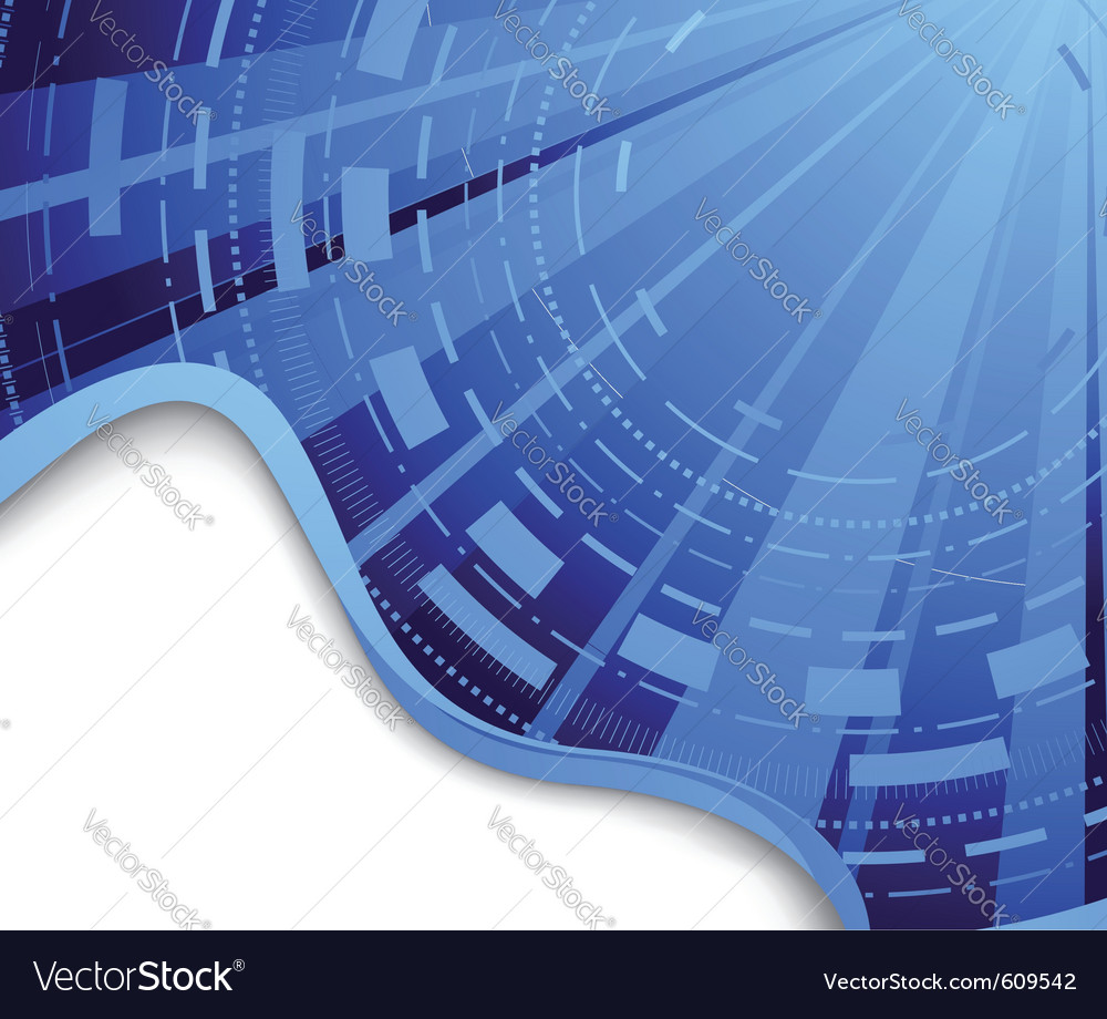 Technological blue background - hi-tech vector image