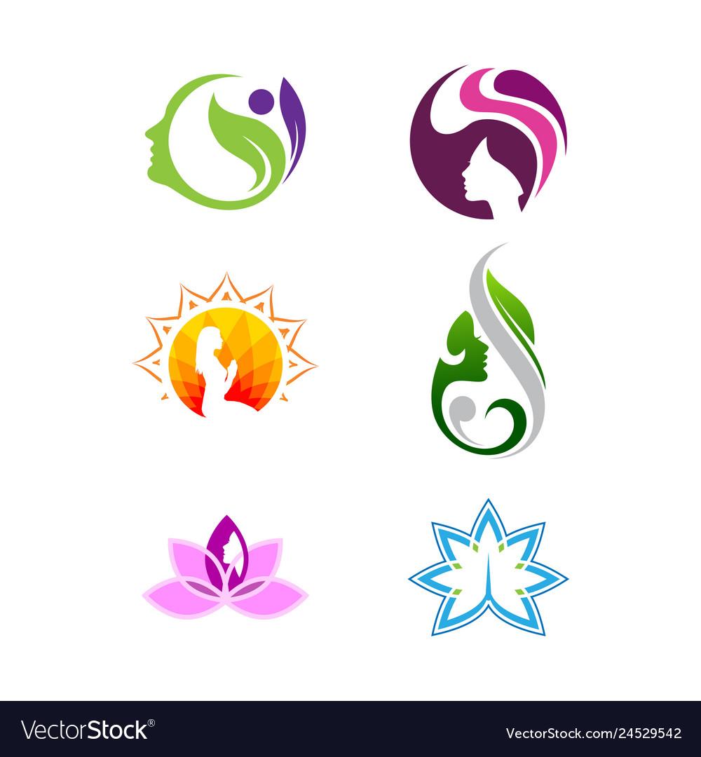 Women shape spa and beauty logo