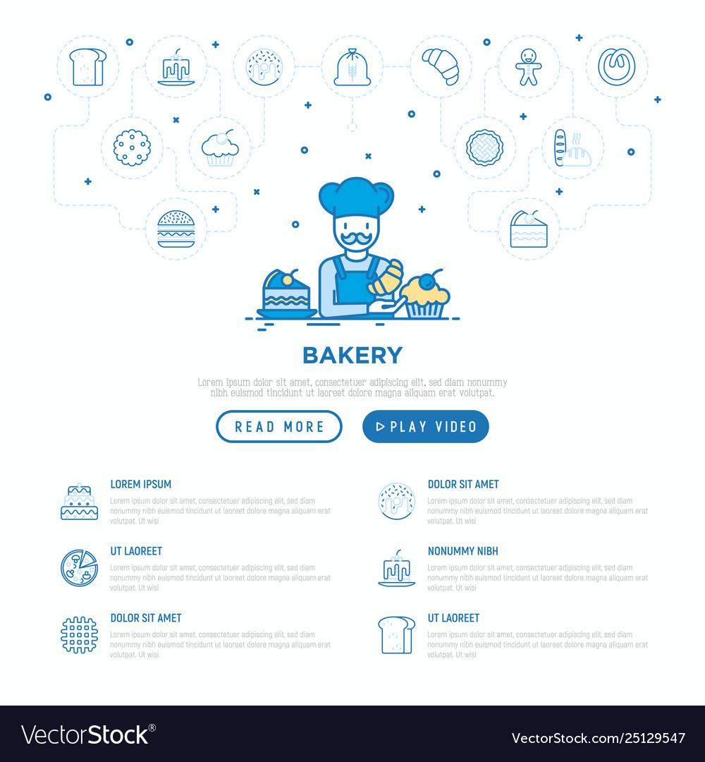 Bakery concept baker with croissant
