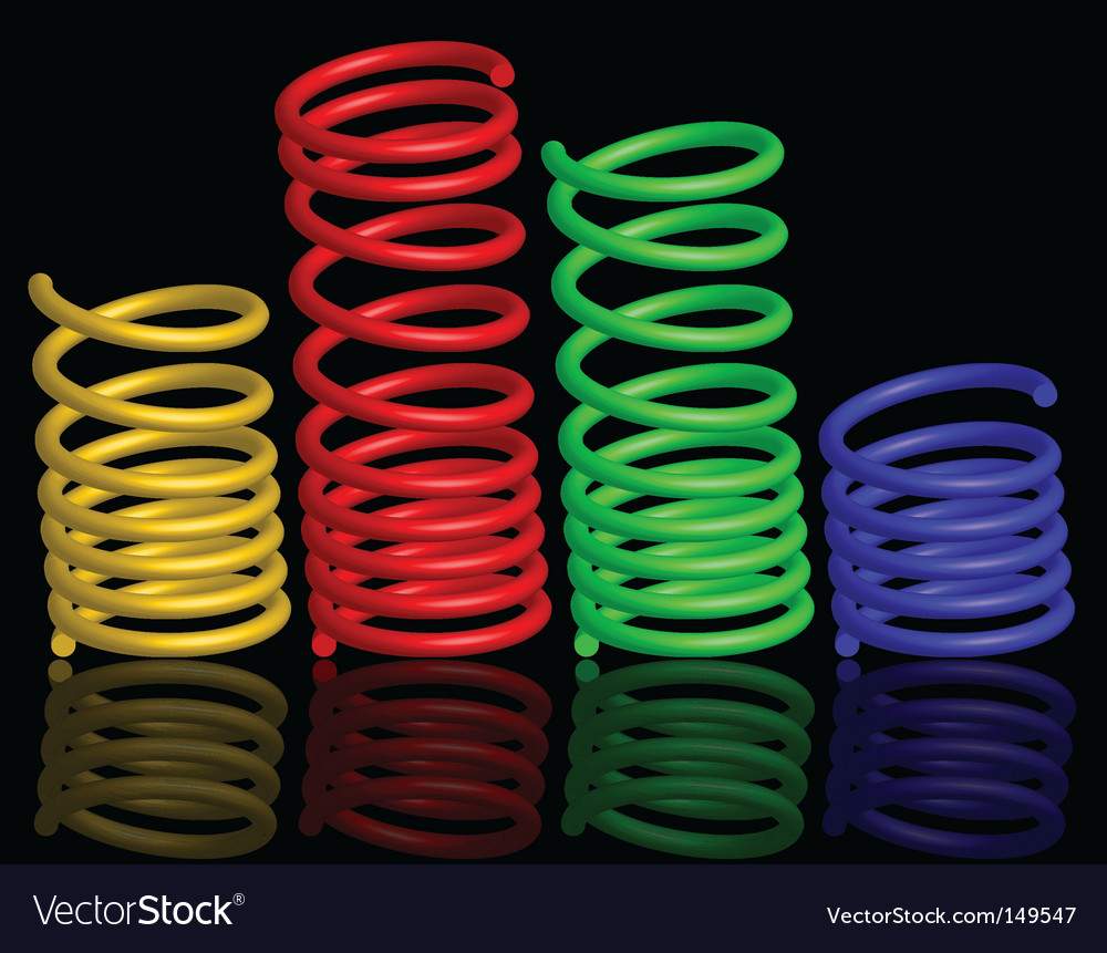 Colour springs vector image