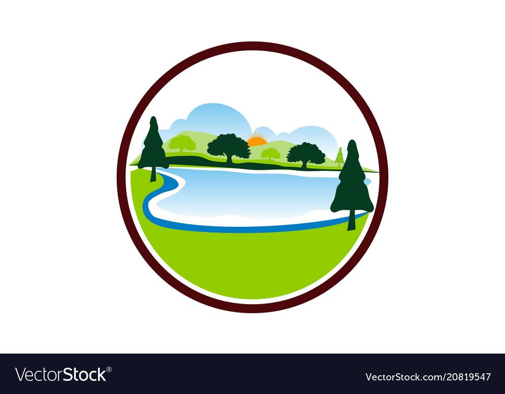 Lake mountain tree