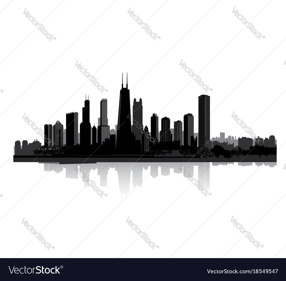 Skyline city view cityscape silhouette urban