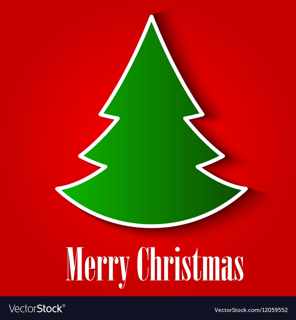 Christmas Tree Background EPS10 vector image