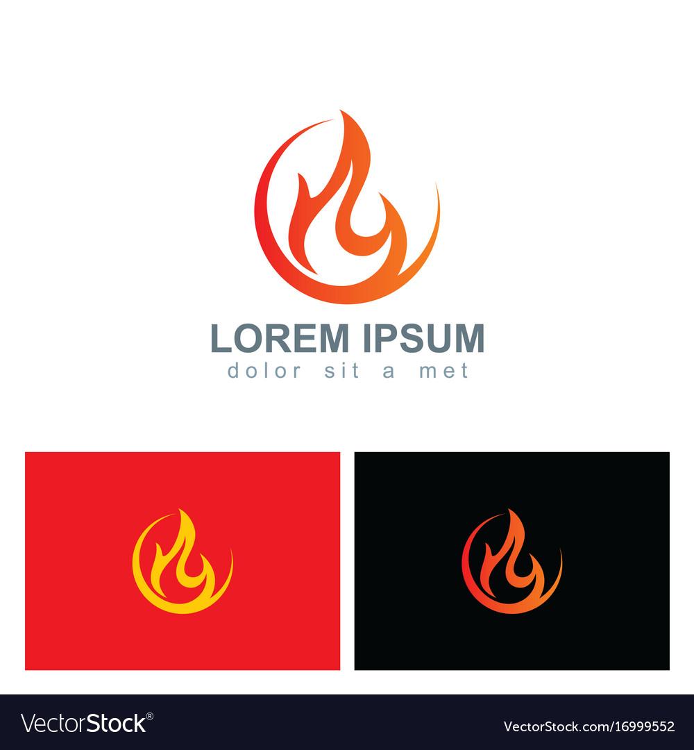 Fire icon flame logo