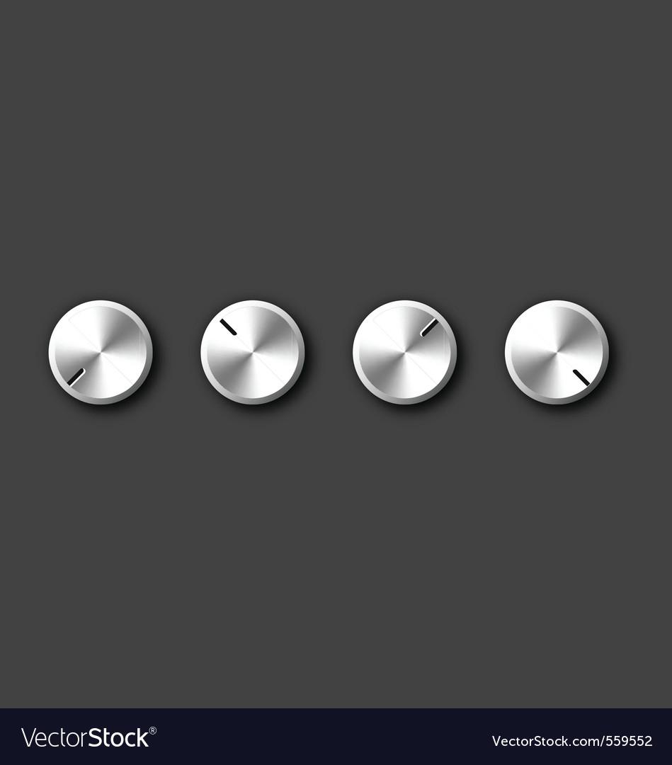 Metal knob