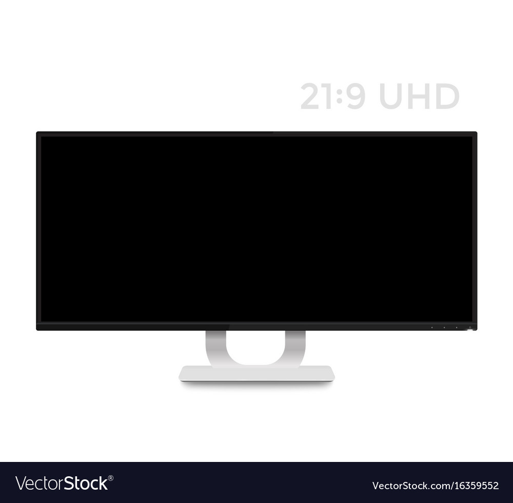 Monitor mockup on white realistic display
