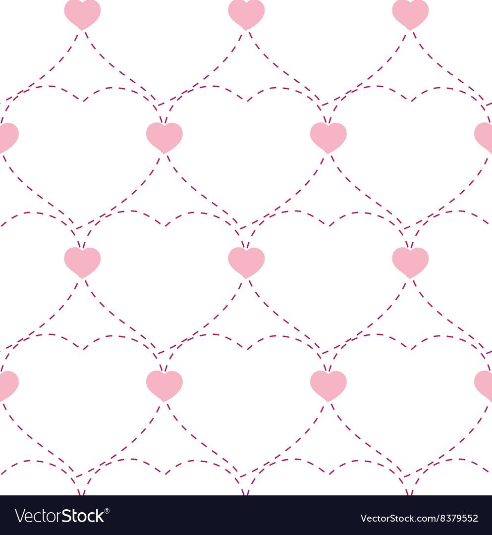 Seamless geometric pattern with hearts