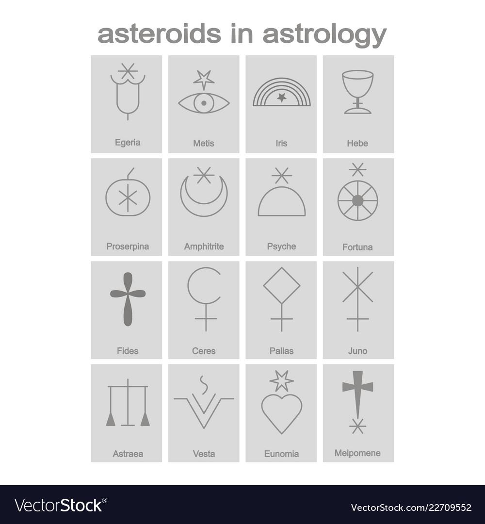 astrological symbols for asteroids
