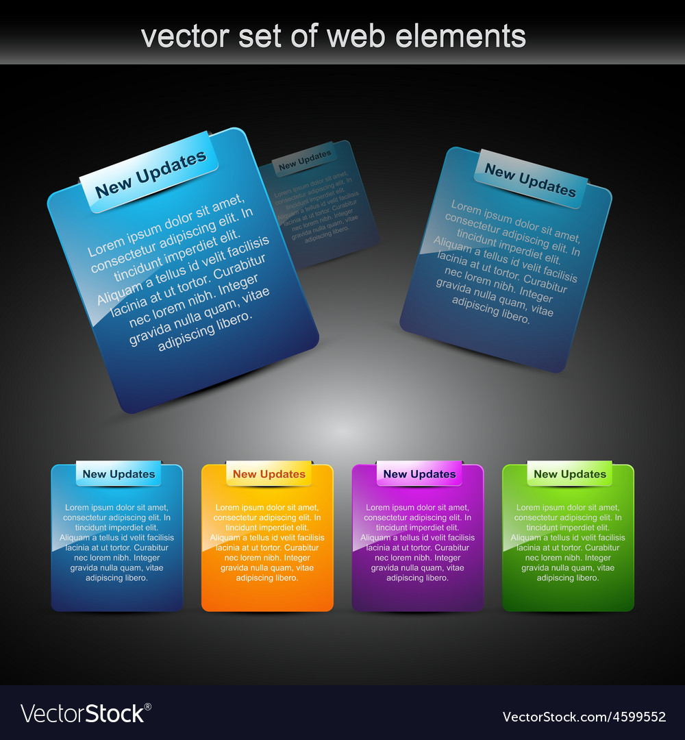 Web elements for web projects