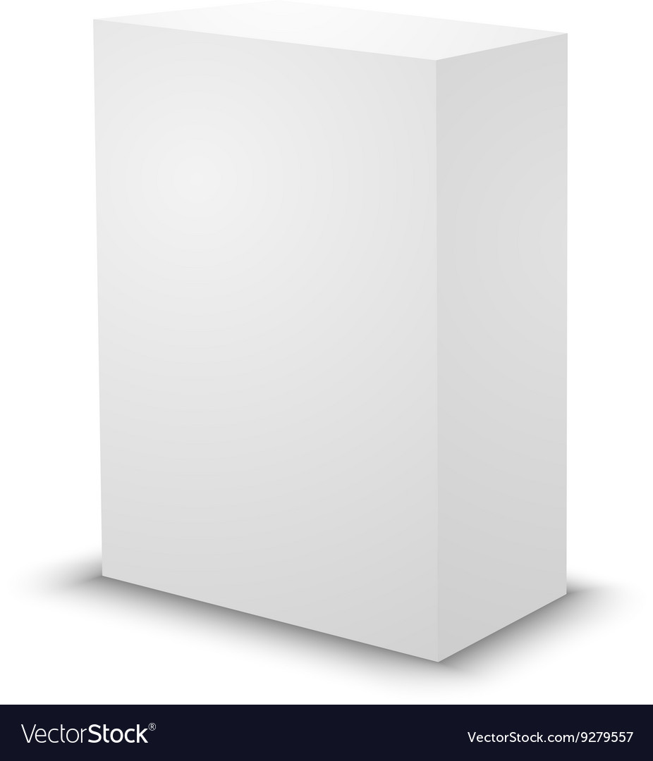 Blank White Prism Box Template Vector Image