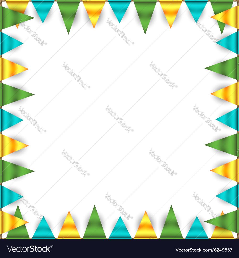 Bunting garland frame vector image